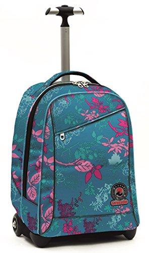 Invicta School 206001659-585 Trolley Zaino, Spallacci a Scomparsa, 35, litri, Poliestere, Blu