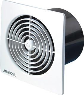 Manrose LP100STW - Ventilador de techo, con temporizador, 100 mm, color blanco