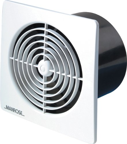 Manrose - Ventola estrattore/timer a basso profilo, 100 mm colore: Bianco