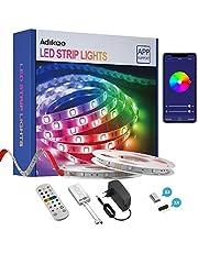 Wifi-ledstrip, 10 m, RGB, zelfklevend, kleurverandering, led-band met IR-afstandsbediening, app-bediening, muzieksynchronisatie, werkt met Alexa voor thuis, feest, feest