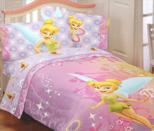 pink tinkerbell bedding