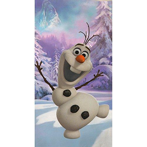 beronage Telo da bagno Disney Frozen–Il regno di ghiaccio–Motivo Olaf–Telo mare 75x 150cm 100% cotone telo da bagno lenzuolo asciugamano Sauna Anna Elsa Kristoff Sven Arendelle