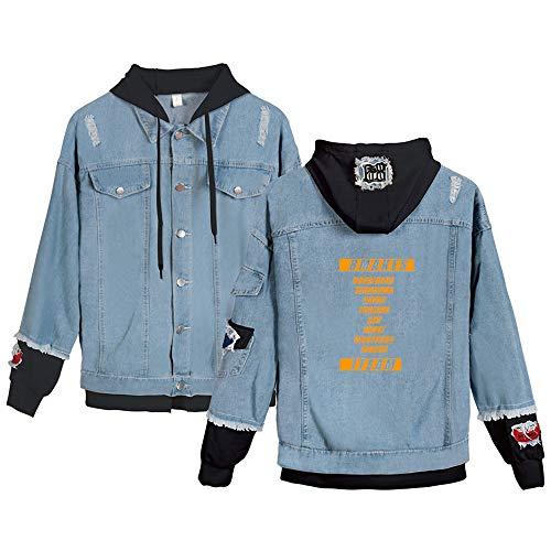 KPOP ATEEZ Jeans Hoodies Casual Denim Jacket para Hombres/Mujeres Sudaderas con...
