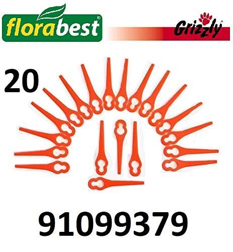 GRIZZLY TOOLS Kunststoffmesser Florabest Akku Rasentrimmer FAT (20 Stück), 91099379
