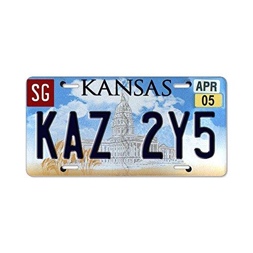 CafePress Kaz 2y5Aluminium Nummernschild–Standard mehrfarbig
