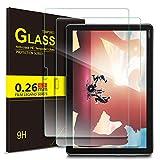 ELTD Verre Trempé Protection écran pour Huawei MediaPad M5 Lite 10, Dureté 9H, 2.5D Bords Arrondis Film pour Huawei MediaPad M5 Lite 10 10.1 Pouce 2018,(2-Pack)