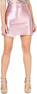 GUESS Womens Hester Metallic Asymmetric Mini Skirt
