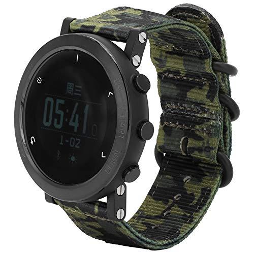Multifunktionale Elektronische Armbanduhr Klettern Tauchen Laufen Sportuhr mit Kompass Höhenmesser Barometer Thermometer für Männer(Tarnung)