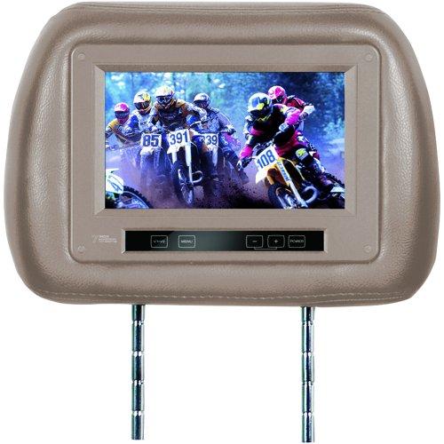 Planet Audio PH7IRT - Reposacabezas Universal con Monitor de vídeo TFT panorámico de 7' preinstalado.