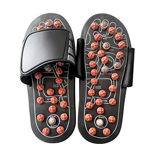 Massage Schuh Akupressur - Yoga Fitness Fußpflege Massage Orthotic Slipper Gesundheit Pantoffeln Kreisläufe Verbessern Für Damen Und Herren (L(Men 45-46/Women 43-44EU))