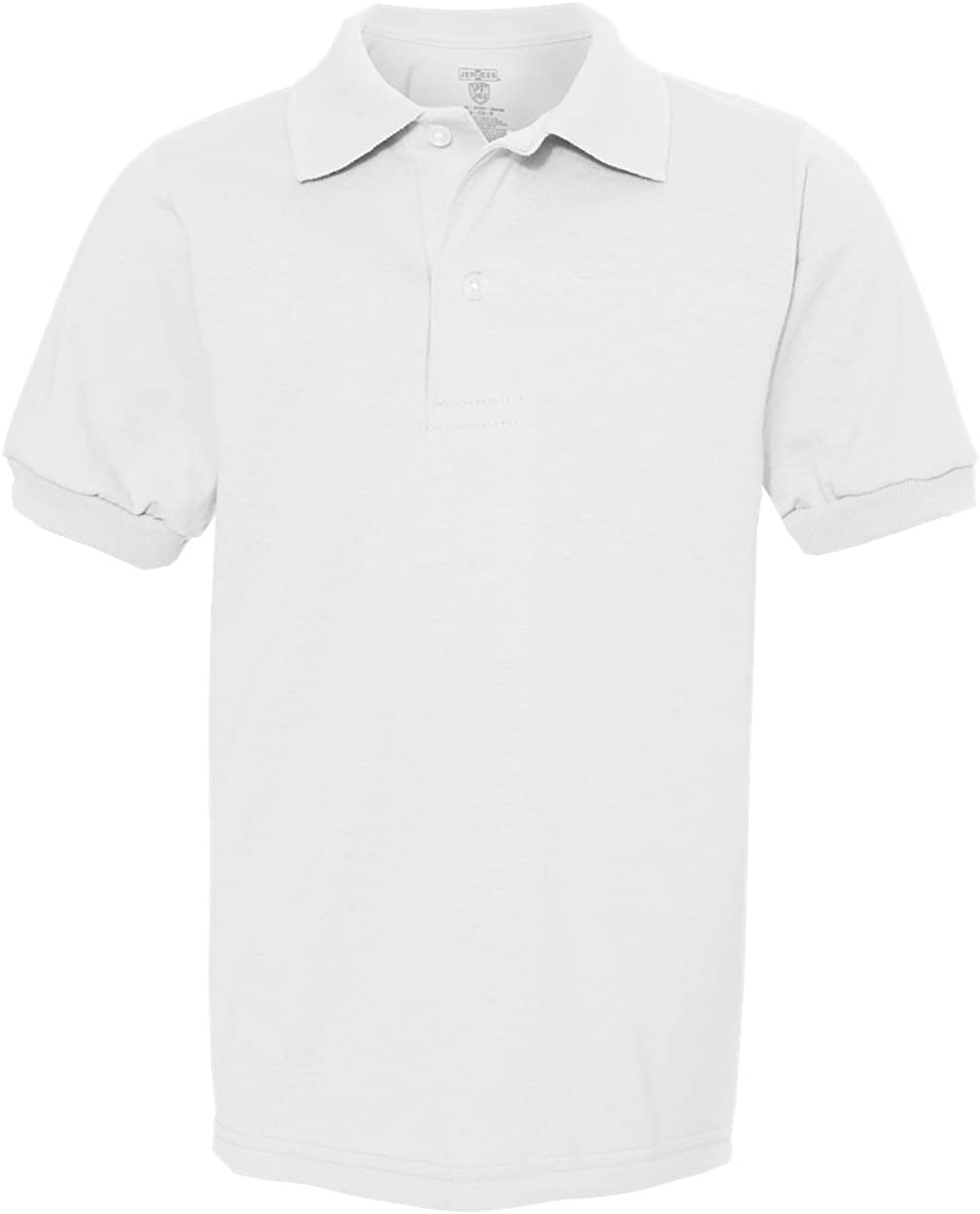 Jerzees Youth 5.6 oz., 50/50 Jersey Polo with SpotShield (437Y) WHITE