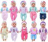 ebuddy 10 Sätze Zu den Accessoires für süße Puppenbekleidung gehören Hüte und Stirnbänder...