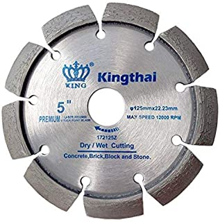Kingthai 5 Inch Laser Welded Crack Chaser Tuck Point Diamond Blade for Concrete Mortar Removal