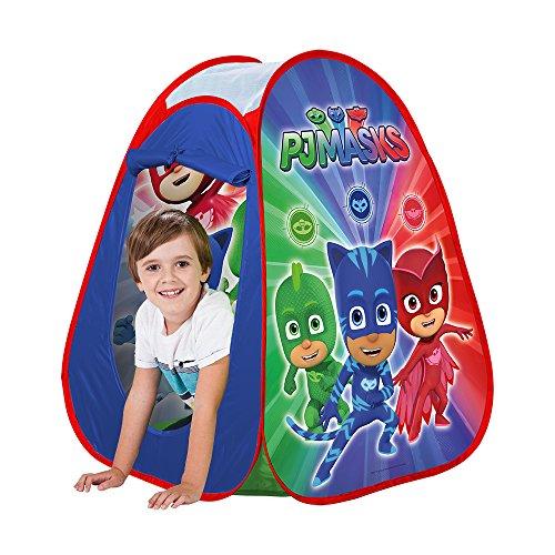 John 77244 77244-Pop Up PJ Masks-Kinderzelt, Wurfzelt, Spielhaus mit gedrucktem Motiv für Kinder, Spielzelt