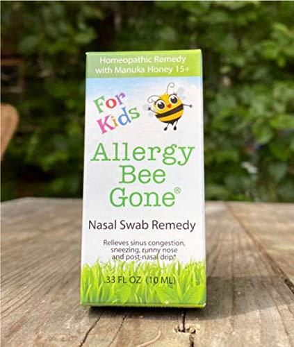 Allergy Bee Gone for Kids Nasal Swab Allergy Symptom Remedy w/Manuka Honey - 100+ Doses - All Natural for Kids