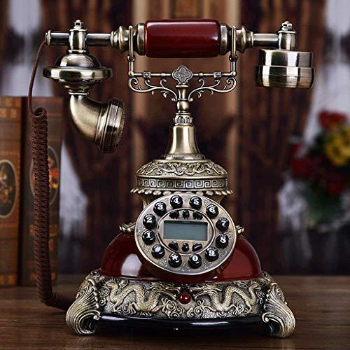 Retro Teléfono fijo Hogar Sala Resina Decorativo Retro Teléfono
