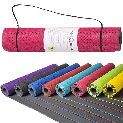 Yogamatte Gymnastikmatte Fitnessmatte Pilatesmatte rutschfest schadstofffrei für Zuhause und den professionellen Physio & Studio Bereich 183 x 61 x...