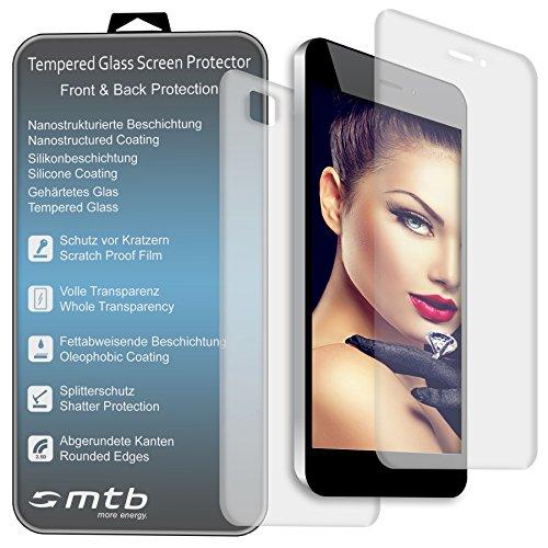 mtb more energy® Schutzglas (Vorder- und Rückseite) kompatibel mit Samsung Galaxy S6 (SM-G920F) // 2.5D - Schutzfolie Tempered Glasfolie Front Back