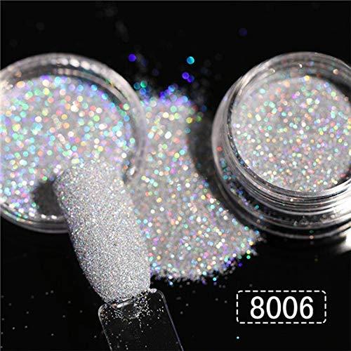 RSS Nail Spiegel Glitter Puder Metallic-Farben-Nagel-Kunst-UVgel Polieren Chrom Flakes Pigment Staub Dekorationen (Color : Color 02)
