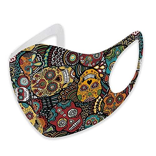 asdew987 Máscara facial de algodón ajustable de algodón mexicano para adultos y mujeres