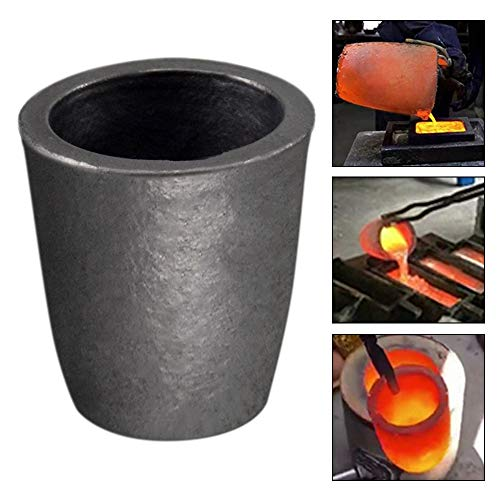 TOAUTO 6 KG Graphite Crucible Foundry Clay Silicon Carbide Cup Furnace for Coke Oven Electric Torch Torch Melting Casting Refining Gold Silver Copper Brass Aluminum (670ML)
