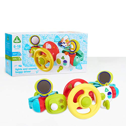 Early Learning Centre Lights and Sounds Buggy Driver, Hand Eye Coordination, Stimulates Senses, Baby Toys for 6 Months, Amazon Exclusive