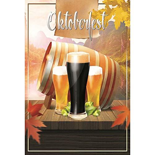 Cassisy 1x1.5m Vinyl Oktoberfest Achtergrond Oktoberfest Bier Festival Bier Vaten Herfst Scenery Foto Achtergrond voor Partij Foto Shoots Volwassen Studio Props Fotografie Achtergronden