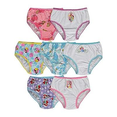 Disney Little Girls' Disney Princess 7 Pack Underwear, Multi, 4T from Handcraft Children's Apparel
