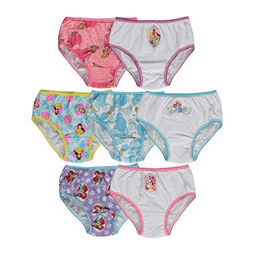 Disney Little Girls' Disney Princess 7 Pack Underwear, Multi, 4T