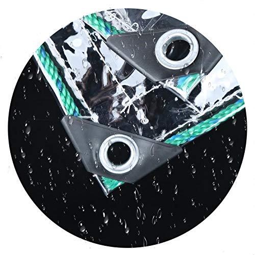 CAOMING Toldo Impermeable, Cortina Transparente Instalaciones Al Aire Libre con Ojal para Cubiertas De Muebles De Jardín, Lonas De Camping (Color : Clear, Size : 2.4x4.5m)