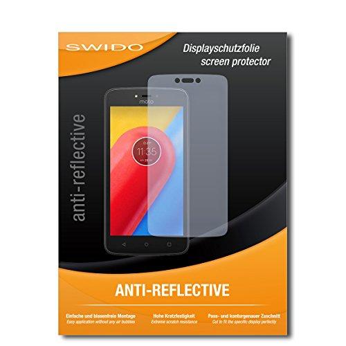 SWIDO Schutzfolie für Lenovo Moto C LTE [2 Stück] Anti-Reflex MATT Entspiegelnd, Hoher Festigkeitgrad, Schutz vor Kratzer/Bildschirmschutz, Bildschirmschutzfolie, Panzerglas-Folie