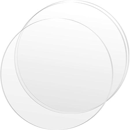 "CLEAR ACRYLIC PLEXIGLASS 1//8/"" PLASTIC SHEET CIRCLE DISC 6/"" DIAMETER"