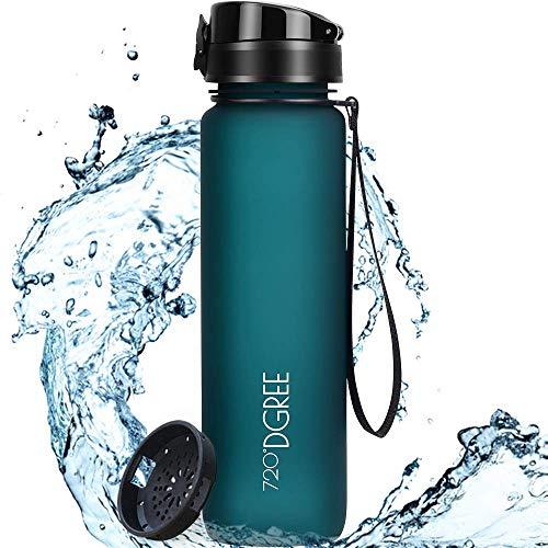 """720°DGREE Trinkflasche """"uberBottle"""" softTouch +Sieb - 650ml - BPA-Frei - Auslaufsichere Wasserflasche für Kinder, Schule, Uni, Sport, Fitness - Tritan Sportflasche - Leicht & Bruchsicher"""