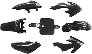 Motocicletta Kit DIY Nero SODIAL 8PZ 50Cc 110Cc 125Cc 140Cc Plastica 4 Tempi Crf50 Pit off-Road Bike Set Parafango Sedile