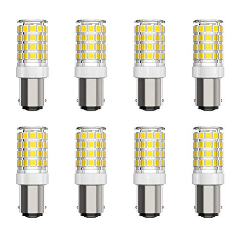 YXZQ Bombilla de luz LED de 5W, AC220-240V Blanco frío 6000K, Reemplazo de halógeno de 50W, para máquina de Coser, microondas, Nevera, Campana extractora, Paquete de 8