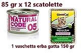 12 scatolette da 85gr Natural Code 05 Pollo e...