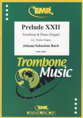 BACH - Preludio nº 22 (BWV:867) para Trombon y Piano (Organo) (Hilgers)