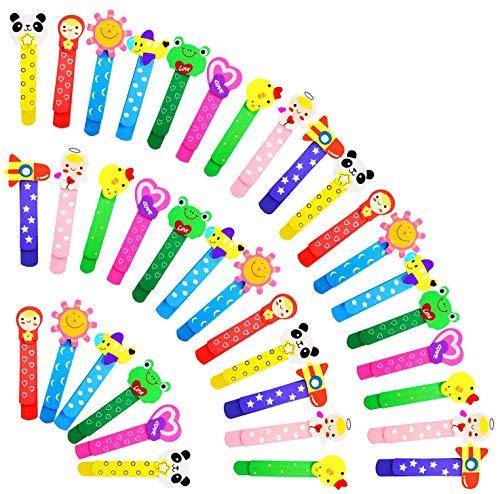 36pz Animali Segnalibro, Yolistar Bambini Fumetto Colorati Carini Divertenti in Legno Regalino Gadget Festa Compleanno Bambini per Bomboniera Battesimo Natale