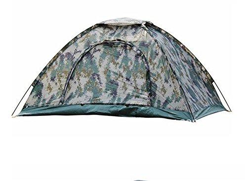 MONEYY Les Loisirs de Plein air tentes Tente de Camping Camouflage numérique Simple Couche Double Camp de tentes Tentes 195 * 145 * 110 cm
