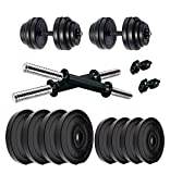 BULLAR Home Gym Set, Dumbbell Set,1 Pair of Adjustable Dumbbell Rods with PVC Dumbbell Plates, Home Gym Set, Gym Equipments, Exercise & Fitness Sets (8KG Set (2KGX4))