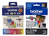 Brother LC51 Print Cartridge - Black, Yellow, Cyan, Magenta (4-Pack)