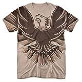Pontiac 1978-1980 Firebird Trans Am Hood Emblem All Over T Shirt & Stickers (X-Large) Tan