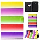 FroFine Coque pour Samsung Galaxy Tab 3 Lite 7.0 SM-T110 (7 Pouces), Cuir Folding Folio Housse Étui...