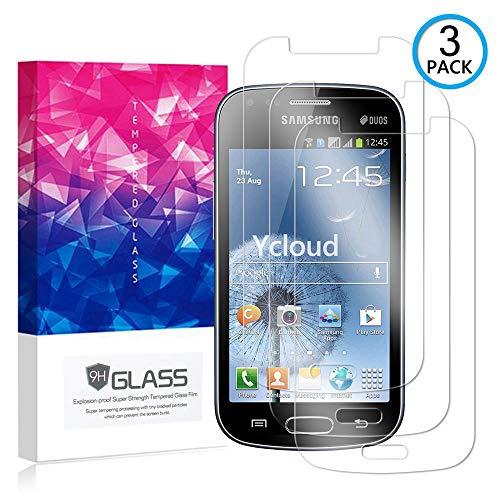 Ycloud [3 Pack] Pellicola Protezione di Schermo per Samsung Galaxy S Duos S7562,[9H Dureza/0.3mm],[Alta Definicion] Vetro temperato Pellicola Protettiva per Samsung Galaxy S Duos S7562