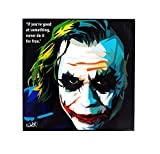 Pop Art Superhelden-Zitate [Batman - The Dark Knight] gerahmtes Acryl-Leinwand, Kunstdruck, modernes Wanddekoration, 25,4 x 25,4 cm 10 x 10 inch Joker