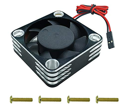 HOPLEX RC Motor Cooling Fan 30mmx30mm Heat Dissipation for RC Car 1/8 1/10 1/12 Scale 540 550 Brushless Motor Black Silver