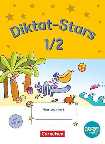Diktat-Stars - BOOKii-Ausgabe - 1./2. Schuljahr: Übungsheft - Mit Lösungen