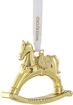 Waterford Rocking Horse Golden Ornament
