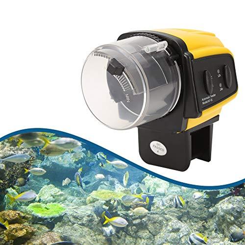 Alimentador automático de peces con cinta adhesiva, 1 unidad digital, automático, eléctrico,...