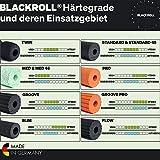 Blackroll  Standard (Härtegrad mittel), schwarz, Selbstmassagerolle + interaktives Booklet - 8